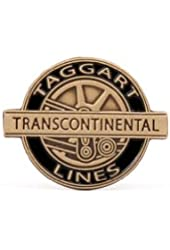 Official Atlas Shrugged Taggart Transcontinental Lapel Pin Gold