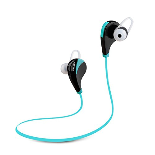 Click to buy Arteck Wireless Bluetooth Sport Headphones w/Mic for Running Sports Earbuds with 5-Hour Playing Battery for iPhone iPod Android Smart Phones-Blue - From only $17.97