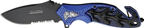 Tac Force Tf-680Blb Assisted Opening Folding Knife 4.5-Inch Closed