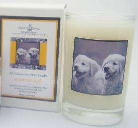 Aroma Paws 218 - Breed Candle Glass Gift Box - Labrador - Honeysuckle - 5 Oz