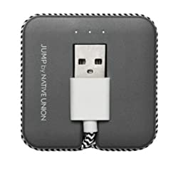 [Apple MFi Certified] Native Union JUMP Cable - World's first 2-in-1 charging cable & compact portable battery booster - Lightning to USB for iPhone, iPad, iPod (Zebra)