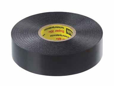 "Scotch Vinyl Electrical Tape 3/4 "" X 66 ' 600 V 221 Deg F Black"