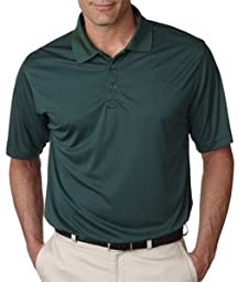 UltraClub Adult Cool-N-Dry Sport Performance Interlock Polo - Forest Green 8425 XL