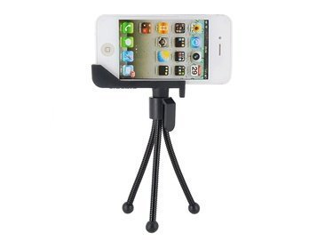 Sidekic Octopus Design Shooting Stand For Iphone 4 & 4S (Black)