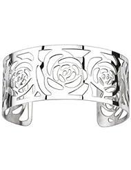 316L Stainless Steel Contempary Rose Pattern Cuff Bangle Bracelet