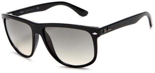 Ray-Ban Rb4147 Flat Top Boyfriend Sunglasses 60 mm, Non-Polarized, Black/Grey Gradient