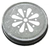 Pewter Daisy Jelly Lid for Mason Jars 12 Count