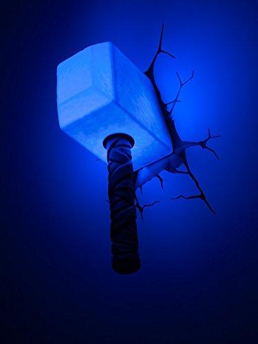 3D Light FX Marvel Thor Hammer 3D Deco LED Wall Light