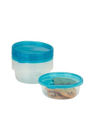 Honey-Can-Do 6-Piece Round Food Storage Set, Clear/Blue
