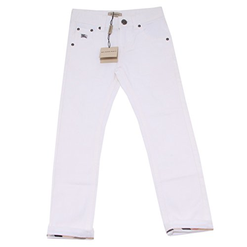 9605O jeans slim bianco bimba BURBERRY trousers pants kids [12 YEARS]