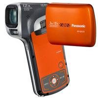 Panasonic HX-WA10D Waterproof Dual HD Pocket Camcorder with 5x Optical Zoom and 2.6-Inch LCD Screen (Orange)