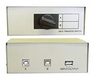 USB Data Switch 2 Way (2 x B type Female + 1 x A type Female)