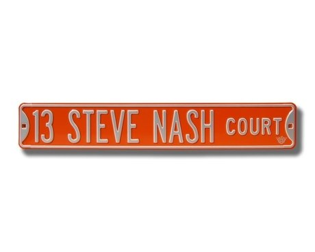 13 Steve Nash Court Ct Sign 6 x 36 NBA Basketball Street Sign