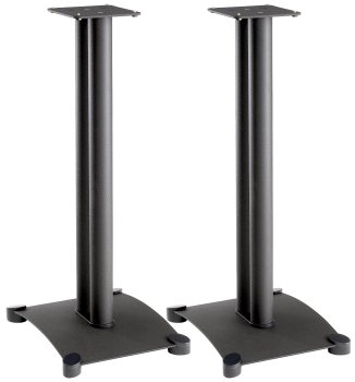 Sanus SF22B Foundations 22″ Steel Speaker Stand Pair Black (SF22b)