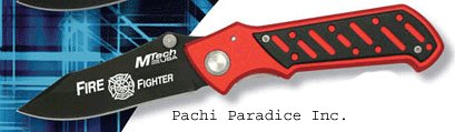 Fire Fighter Tactical Pocket Knife Anodized Aluminum Handle