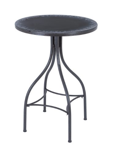 Benzara Bar Table With Distressed Finish And Smooth Edges, Blue front-577578