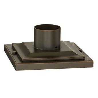 square base pier mount finish montrachet bronze outdoor. Black Bedroom Furniture Sets. Home Design Ideas