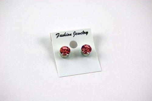 Earring Fashion Stud Magnetic Large Pink Nickel Free