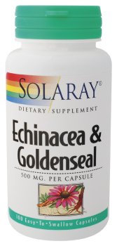 Solaray - Echinacea & Goldenseal, 500 mg, 100