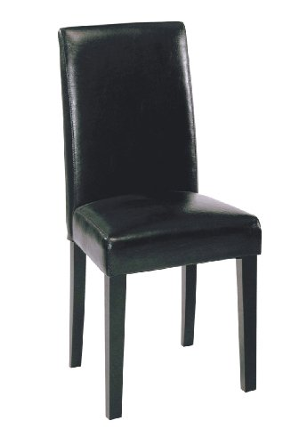 Black Friday Armen Living High Back Leather Dining Chair