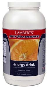 Lamberts Performance Energy Drink - Orange flavour - 1000g Pdr
