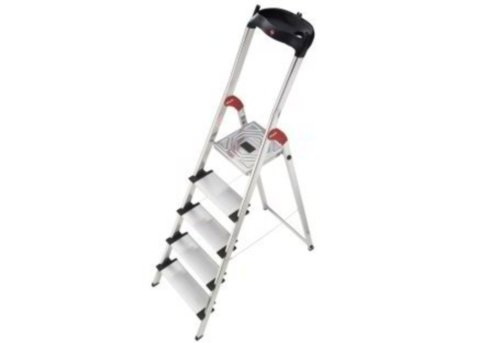 Hailo XXL 150 kg Capacity Aluminium Deluxe Comfort Steps (5 Steps)