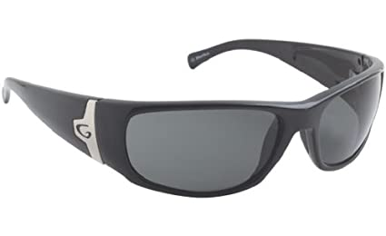 Guideline Eyegear Rio Sunglass, Shiny Black Frame, Deepwater Gray Polarized Lens, Medium/Large