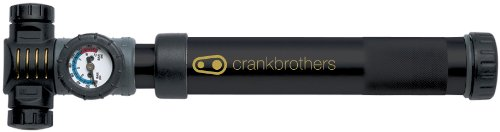 Crank Brothers Power Alloy Bicycle Pump (Black with Gold Accents)
