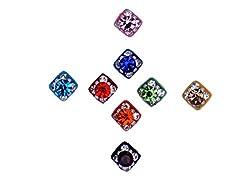 Sunaina Premium Collection Multicolor Small Size Square Bindis for Women [SPC545]