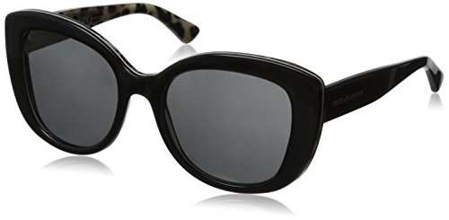 D&G Dolce & Gabbana Women's 0DG4233 Cateye Sunglasses,Black,53 mm