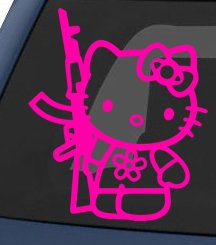 Hello-Kitty-AK-47-Car-Sticker-Pink
