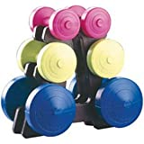 York Family Dumbbell Weight Set and Stand