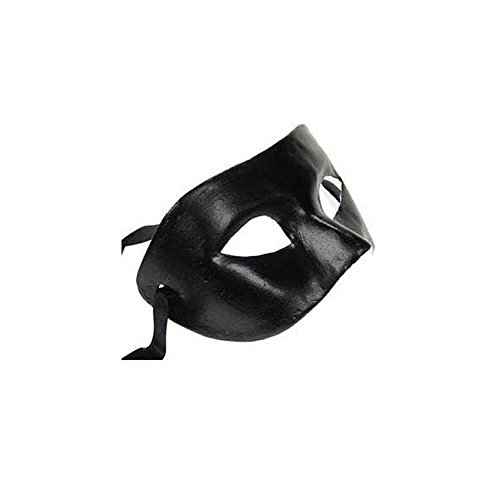 BabeMall Attractive Phantom Black Paper Mache V Mask Masquerade (Paper Mache Masquerade Mask compare prices)