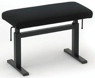 Andexinger Klavierbank Lift 484-S Sitz 65x33 cm Stoff schwarz, made in Germany