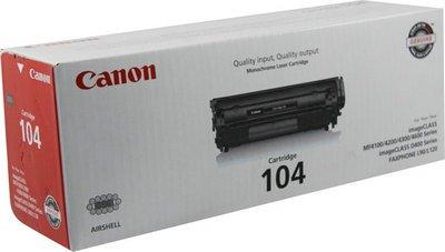 Black Canon 104 0263B001AA L90 L120 D420 D480 4100 4120 4150 4270 4350 4370 4690 Toner Cartridge in Retail Packaging