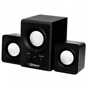 Zenex 2.1 Channel Usb Powered Speaker System-Black