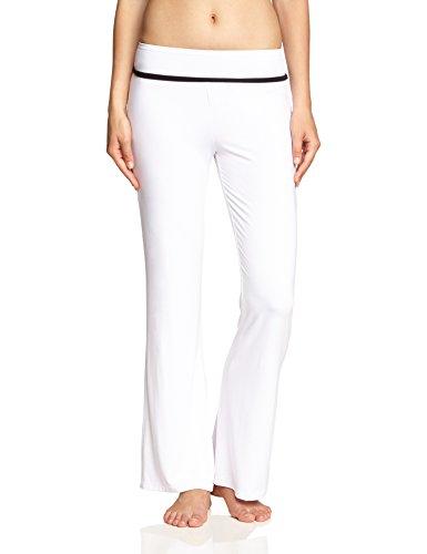 FA Sports, Pantaloni da fitness e yoga Donna, Bianco (Weiß), L