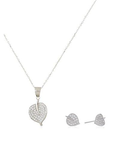 Cordoba Jewels Set catenina, pendente e orecchini  argento 925 rodiato
