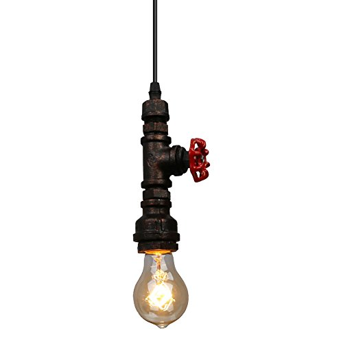 Fuloon loft retro diy industrial iron pipe vintage ceiling for Iron pipe ceiling light