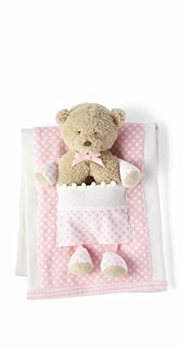 Mud Pie Bear Burp Cloth with Rattle