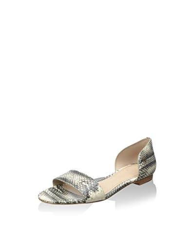 Tory Burch Women's Savannah Flat Sandal  [Black/ivory]