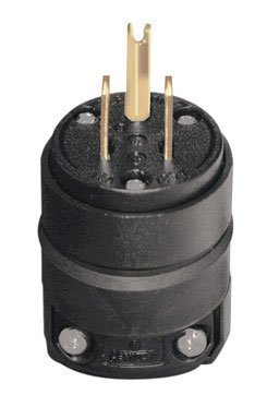 Leviton 000-515PR-000 15 Amp Black Rubber Plug Grounded 125 Volt