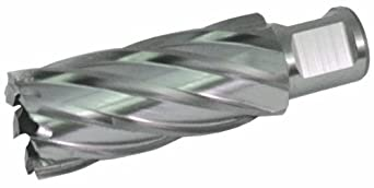 "Jancy Slugger High Speed Steel Annular Cutter, Uncoated (Bright) Finish, 3/4"" Annular Shank, 2"" Depth"