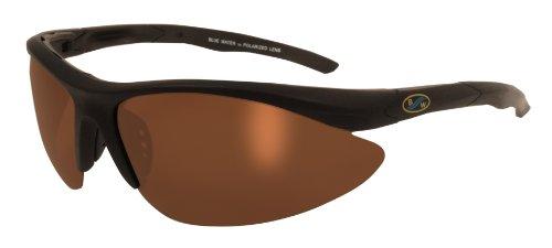 3955e403229 BlueWater Polarized Islander 2 Line Sunglasses (Soft Touch Black Frame Brown  Lens