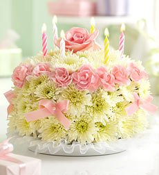 Flowers by 1800Flowers - Birthday Flower Cake Pastel