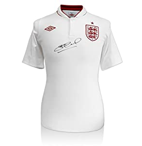 Steven Gerrard hand signed autographed England shirt - 2012/13 by A1 Sporting Memorabilia