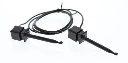 Black Mini-Plunger Clip On Both Ends With Double Sided Foam Tape