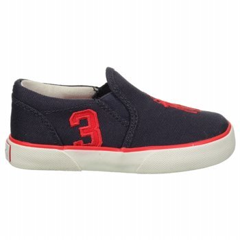 Polo Ralph Lauren Kids Siera Fashion Sneaker (Toddler/Little Kid/Big Kid),Navy/Red,5 M Us Toddler