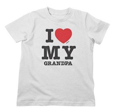 Lil Shirts I Love My Grandpa Toddler Graphic Tee