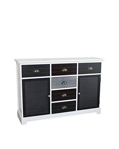 Gallerie Décor Burnside 6-Drawer & 2-Door Cabinet, Multi
